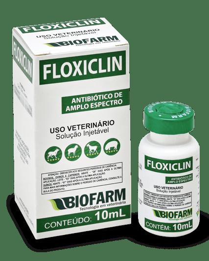 Floxiclin Antibiótico Amplo Espectro Injetável BioFarm - 10 ml