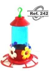 Bebedouro Beija Flor c/ Poleiro e Chapéu 250 ml - Ref. 242