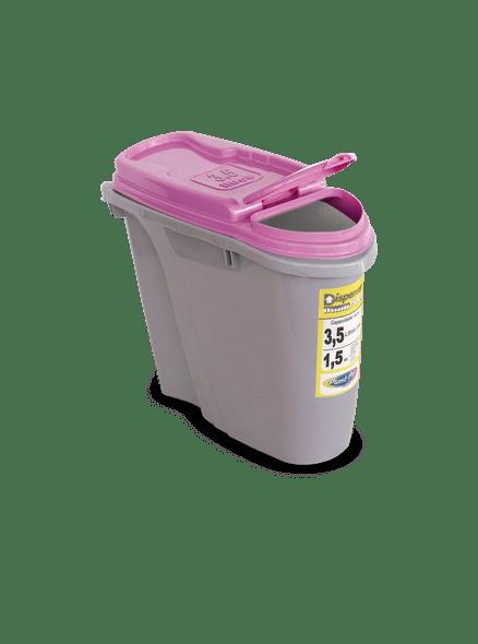 Dispenser Home Armazenador/Porta Ração 3,5 L Rosa