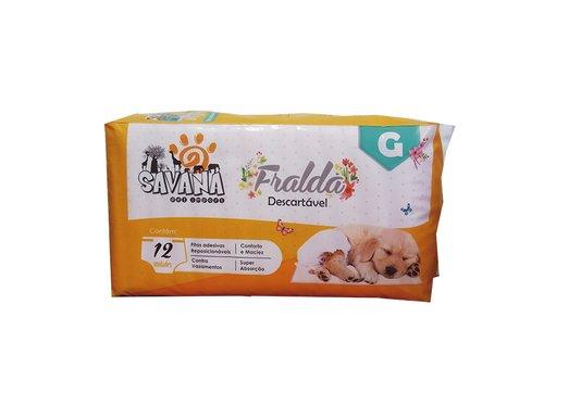 Fralda Descartável Cães G - Pacote 12 unidades