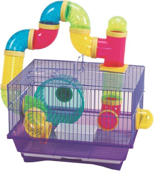 Gaiola Playground Hamster Sírio Chinês Anão Tubos Completa