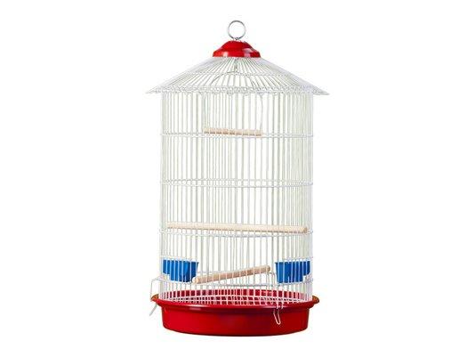 Gaiola Pássaros Redonda Chinesa Maior Epoxi Londrina -Ref 130