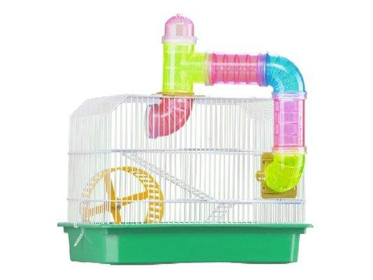 Gaiola Hamster RoedoresTubos Bandeja Plástica Verde Londrina