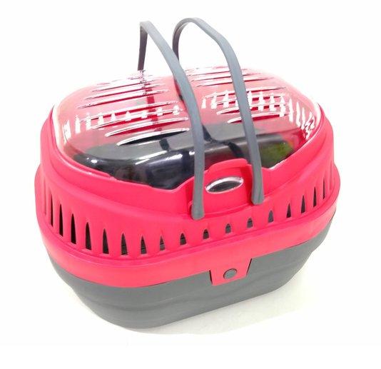 Gaiola Caixa Transporte G Porquinho India Hamster Vermelha