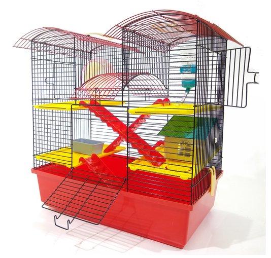 Gaiola Hamster Luxo Grande 3 Andares 50 x 44 x 28 cm