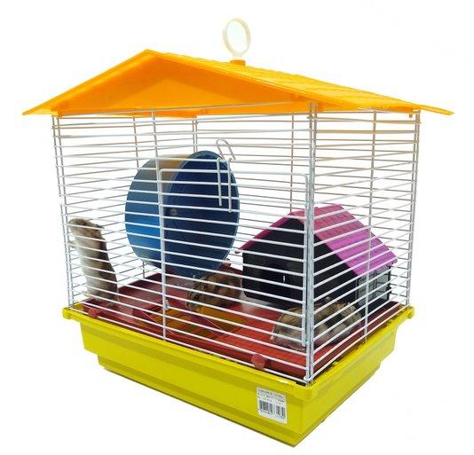 Gaiola Hamster Teto Plástico 1 Andar Ornamental Ref. 103