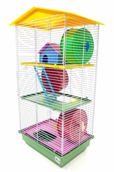 Gaiola Hamster Teto Plástico 3 andares Ornamental - Cód. 105