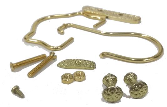 Gancho/Alça Metal Dourado Gaiolas+Puxador+tramela- 12 jogos