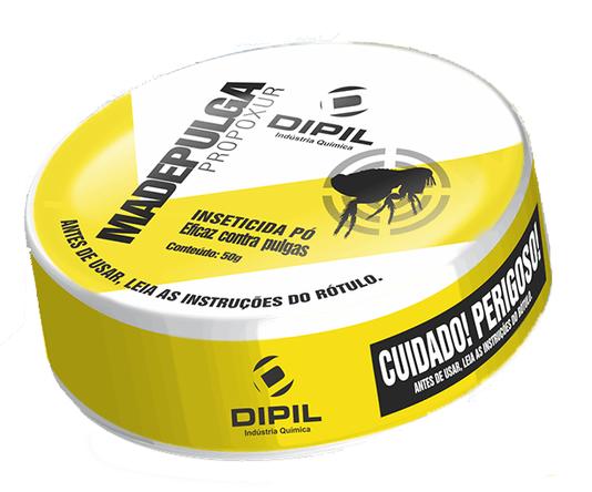 Madepulga Inseticida pó Controle Pulgas Ambientes 50 g