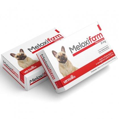 Meloxifarm 2 mg  Antinflamatório Cães Gatos Meloxicam 10 Comprimidos