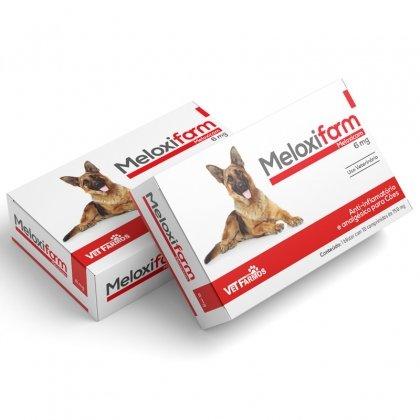 Meloxifarm 6 mg  Antinflamatório Cães Gatos Meloxicam 10 Comprimidos