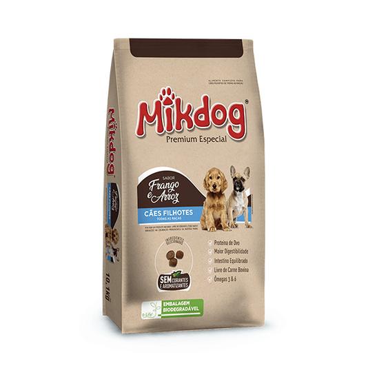 MikDog Filhotes Premium Especial Ração Cães Filhotes 10,1Kg
