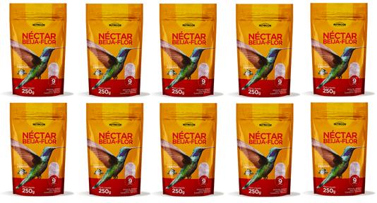 Néctar Beija Flor Alimento Atrativo Aves 250 G 10 unidades