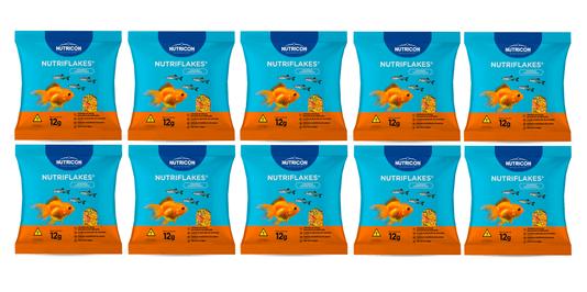 Nutriflakes Alimento Flocos Peixes Ornamentais 10x12G