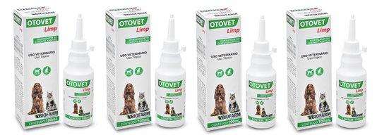 Otovet Limp Limpeza Ouvidos Otológica Cães Gatos (Kit 4 un)