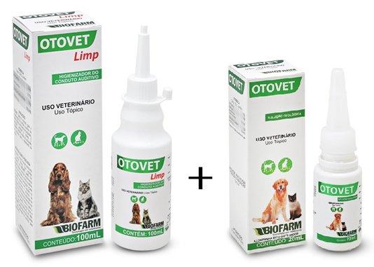 Otovet+Otovet Limp Solução Otológica Cães Gatos Coelhos