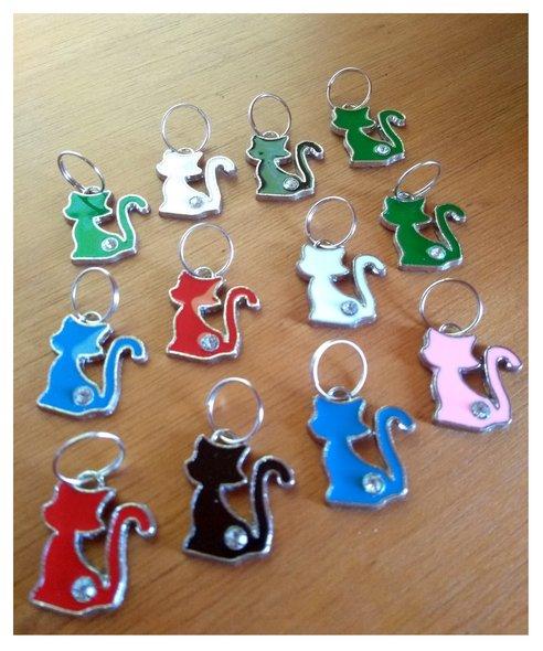 Pingente Placa Identificação Metal para Gatos Cartela 12 un