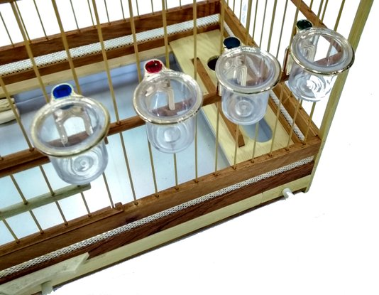Porta Vitamina Metal Dourado Pássaros Malha Larga 10 un
