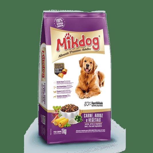 Ração Mik Dog Vegetais Alimento Premium Cães Adultos - 7 kg