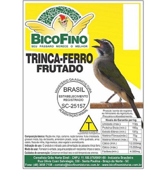 Ração Mistura Frutas Trato Pássaros Trinca Ferro 5 kg