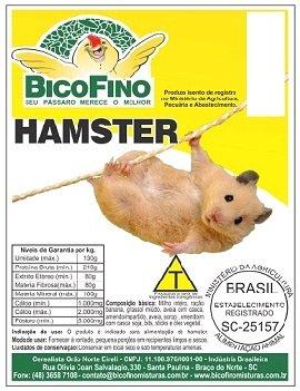 Ração Sementes Mistura Trato Hamster 5 KG.