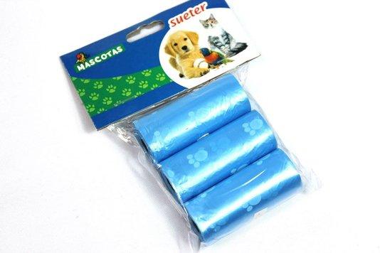 Refil Kit Higiênico Cães Cata Coco 3 rolos Sacos Plásticos