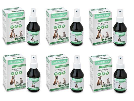 Sarniran Spray 100 ml Fungo,Sarna,Pulga,Piolho,Carrapato(6 un)