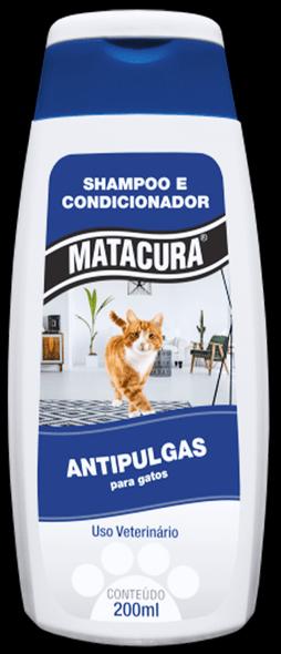 Shampoo Condicionador Gatos Matacura Antipulgas  200 ml
