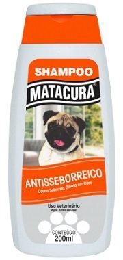 Shampoo Matacura Cães Antisseborreico Coceira 200 ml
