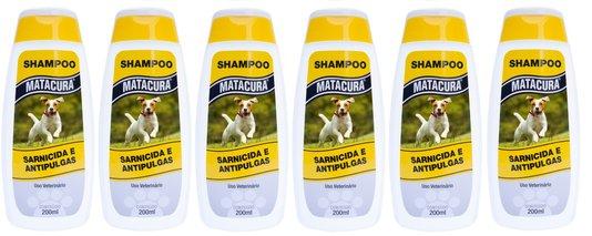Shampoo Matacura Sarnicida e Anti-pulgas AIC (6x200 ml)