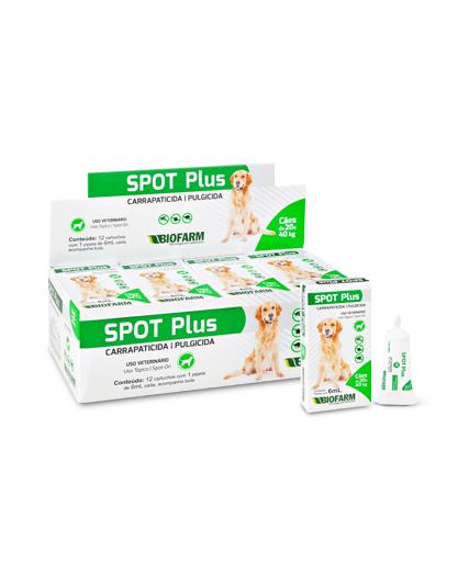Spot Plus Pipeta Pulga Carrapato Sarna Cães 21 a 40 kg 1 un