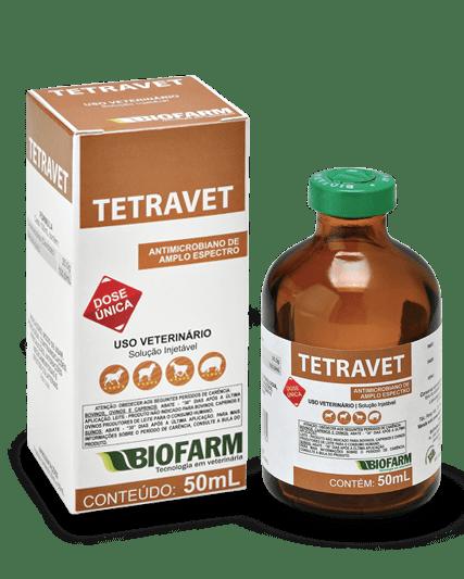 Tetravet Antibiótico Injetável Oxitetraciclina 50 ml