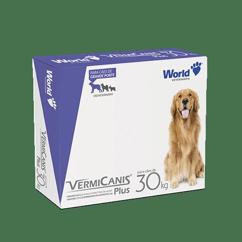 Vermicanis Plus 2,4g Vermífugo Cães 30 kg - cartela 2 comp.