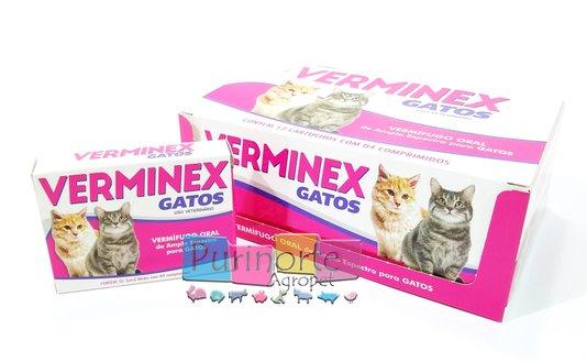 Verminex Vermífugo Gatos Praziquantel 48 comp.