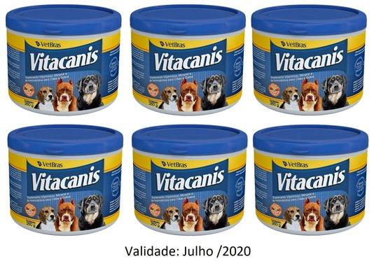 Vitacanis Suplemento Vitamínico Cães/Gatos 6 potes x 250 g