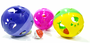 Brinquedo gatos bola gigante com guizo 13 cm kit 3 unidades