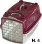 Caixa Transporte Cães e Gatos Vinho Pata Forte